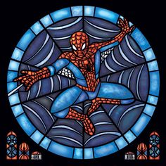 Rose Window - Spiderman Stained Glass Illustration