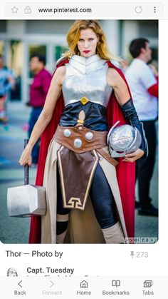 Not going to lie. I ould love to do this cosplay. I love Thor! Thor Cosplay, Thor Costume, Best Cosplay, Cosplay Girls, Superhero Cosplay, Awesome Cosplay, Cool Costumes, Cosplay Costumes, Costume Ideas