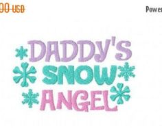 Mommy's Snow Angel Machine Embroidery Design Multiple Formats Available…