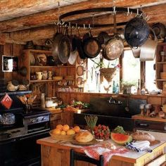 This kind of reminds me of the Weasley's kitchen in Harry Potter haha