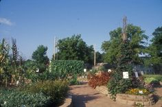Beanstalk Children's Garden at the Kansas City Community Gardens, Kansas City, MO. Elizabeth Goodwin, photographer, 2007. The Beanstalk Children's Garden is comprised of several theme gardens, including a vegetable garden, water garden, and a curiosity garden with unusual and interesting plants from around the world.