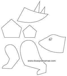 dinossauro-de-bexiga-molde.JPG (736×829)