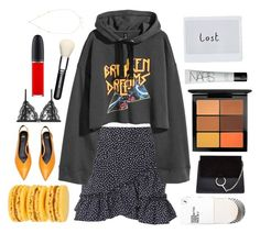 """""""Untitled #596"""" by seetheotheroceans ❤ liked on Polyvore featuring Topshop, Chloé, ZoÃ« Chicco, NARS Cosmetics, Alexander McQueen and MAC Cosmetics"""