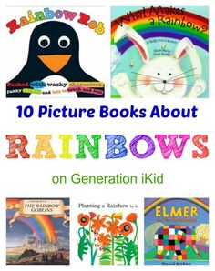 Rainbow activities: 10 Picture Books About Rainbows. Rainbow Activities, Literacy Activities, Spring Activities, 10 Picture, Picture Books, Fun Learning, Teaching Kids, Preschool Books, Preschool Ideas