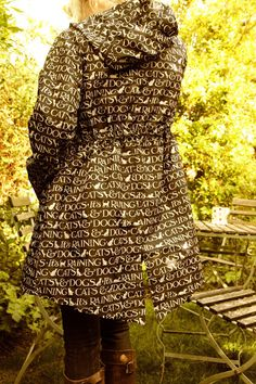"""from Modern Country Style blog: What To Wear: Relaxing Outside...Emma Bridgewater rain coat! """"Cats and dogs!"""""""