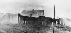 Sumpter in ruins    Sumpter in ruins after fire of August 13, 1917. Photo courtesy Baker County Library, Baker City, Oregon