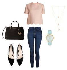 Casual by mags2018 on Polyvore featuring polyvore, fashion, style, Valentino, Topshop, MANGO, Michael Kors, Kate Spade, Natalie B and clothing