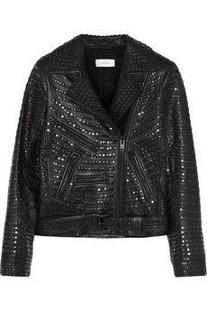 A.L.C. Blake studded leather biker jacket | THE OUTNET