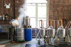 COLIN SPOELMAN AND DAVID HASKELL AT KINGS COUNTY DISTILLERY