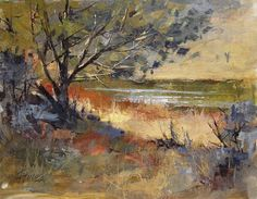 "Peggy Immel     ""Winter Shoreline"" — at Rio Grande del Norte."