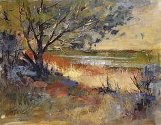 "Peggy Immel     ""Winter Shoreline"" — at Rio Grande del Norte."