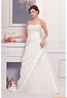 Herz-neck A-linie Romantische Preiswerte Brautkleider aus Organza