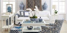 Blue and white love it!