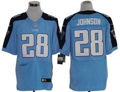 Chris Johnson jersey Blue #28 Nike NFL Elite Tennessee Titans jersey    ID:9256992  $23