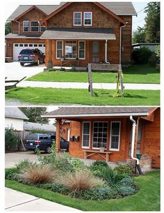 Before and After Rain Garden in Puyallup, WA