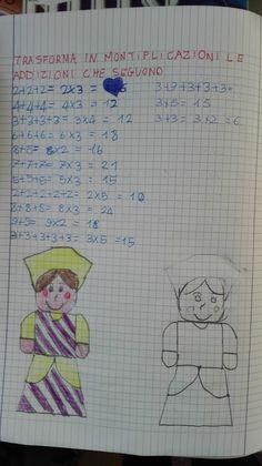 Carnevale anche sul quaderno di matematica! Problema con dati da ricavare...  Dalla conta del