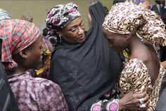 Chibok girls in Abuja, Nigeria, kidnapped by Boko Haram