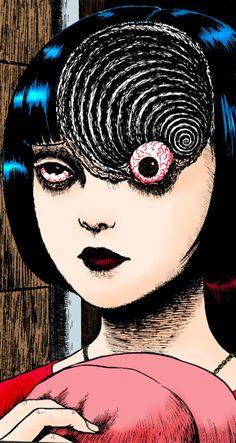 Uzumaki by Junji Ito.everytime I see snail or slug.I thought of Junji Ito hahaha. so freaky but so good. Arte Horror, Horror Art, Japanese Horror, Japanese Art, Migraine Art, Migraine Headache, Chronic Migraines, Dibujos Dark, Junji Ito