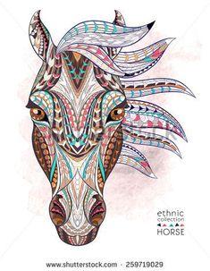 geometric horse tattoo - Google zoeken: