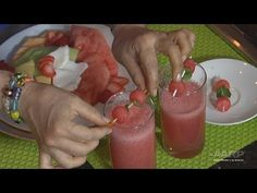 Drink your fruit with this easy recipe for Aguas Frescas from Denisse Oller! Summer Drinks, Cold Drinks, Fresco, Agua Fresca Recipe, Easy Meals, Food And Drink, Fruit, Desserts, Recipes