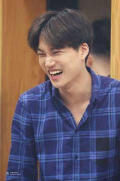 Aww baby Kai's sweet smile Baekhyun Chanyeol, Park Chanyeol, Taemin, Shinee, Kaisoo, Kpop Exo, Exo K, K Pop, Sekai Exo