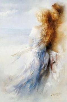 Last night i dreamed about you … all i know is that we kept merging into one another. I was you, you were me~Franz Kafka www.twinflames-soulmates.com Art:Willem Haenraets