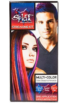 Splat Rebellious Colors Hair Dye Complete Color Kit In Red Purple And Blue