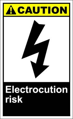 Electrocution risk  $1.64 #signs