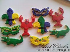 Mardi Gras cookie set