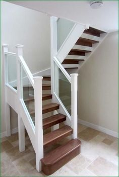 u shaped stairs diy small space - Google Search