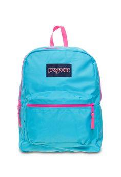 Jansport - Mochila Spirit Mammoth Blue / Fluorescent Pink