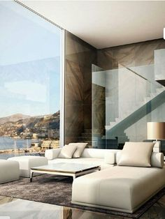 Elegant simplicity with a stunning view from 'open' living room