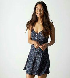 AEO Printed Slip Dress
