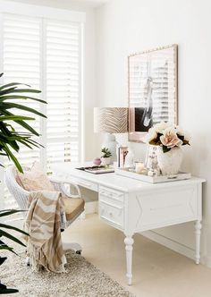This feminine office feels sophisticated and elegant, but thanks to the zebra-print details, it has a bit of edge.