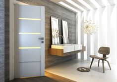Drzwi wewnętrzne PASSO białe lamistone