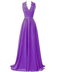Marryou Women's V-Neck Long Prom Dresses Chiffon Bridesma... https://www.amazon.com/dp/B01HA84PLE/ref=cm_sw_r_pi_dp_lvTzxbP6ETADK