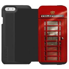 """Classic British Red Telephone Box Incipio Watson™ iPhone 6 Wallet Case - We want to make #personalized, #unique #iphonecases that you must to love.  Personalize your own iPhone case on Zazzle! Click the """"Customize"""" button to insert your own artwork, design, or pictures to make a one of a kind case. Try adding text using great fonts and preview your design! This easy to customize iphone 6 case has no minimum order and is made after you order. Browse and read customer reviews below detail of…"""