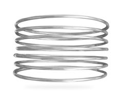 Semanarios Set of 7 Round Sterling Silver Bangle Bracelets -- Find out more about the great product at the image link.