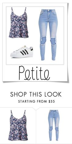 """""""petite"""" by lilyismyname-13 ❤ liked on Polyvore featuring Miss Selfridge and adidas"""