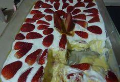 O Pavê de Pudim de Baunilha com Morangos é prático – porque é feito com pudim de baunilha – e fica maravilhoso. Faça para a sobremesa da sua família e rece