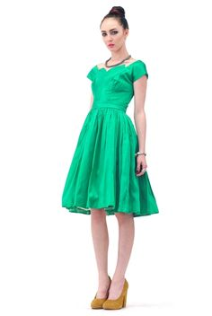 OZ Silk Emerald Party Dress