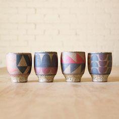 Painted Ceramic Cup