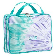 Jet-Set Cool Tie-Dye Makeup Travel Case #pbteen