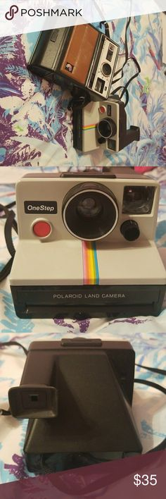 Old Polaroid cameras One step Polaroid land camera and also kodak Polaroid camera. Includes both!! There is no film along with these. polaroid Other