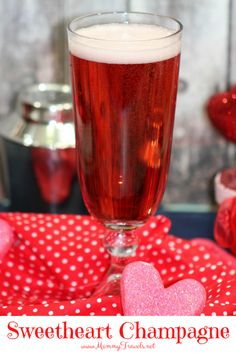 Sweetheart champagne cocktail perfect for Valentine's Day