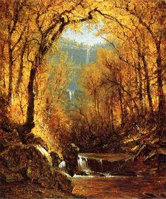"Sanford Robinson Gifford  ""Kauterskill Falls""     1871"