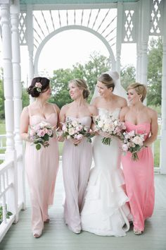 CUTE idea-- bridesmaids all wear the same color, but maid of honor wears a shade darker to stand out <3