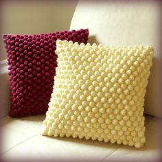 Bochánkové polštářky / Zboží prodejce Stará mladá - My CMS Crochet Pillow Cases, Crochet Cushion Cover, Crochet Pillow Pattern, Crochet Square Patterns, Crochet Quilt, Crochet Cushions, Cushion Covers, Crochet Stitches, Bobble Crochet