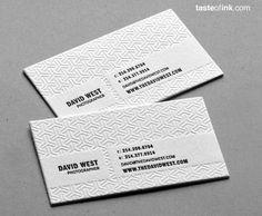 embossed business card / uklad ok