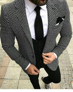 mens_fashion - swallow gird Tweed British style custom made Mens suit tailor slim fit Blazer wedding suits for men 3 piece Mode Costume, Designer Suits For Men, Tailored Suits, Mens Slim Fit Suits, Mens Fashion Suits, Mens Suits Style, Mens 3 Piece Suits, Men Wedding Fashion, Groom Fashion
